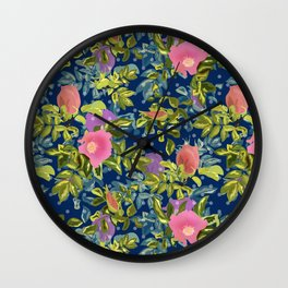 retro, shirovnik, roses retro Wall Clock