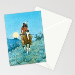 The Outlier by Frederic Sackrider Remington Stationery Cards