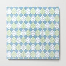 Abele Tree Leaf Pattern Metal Print