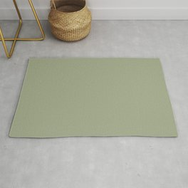 Lush Earthy Meadow Green Solid Color Rug