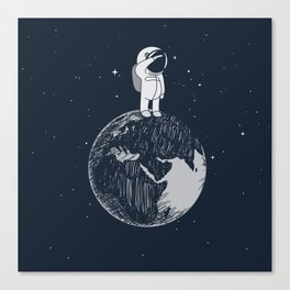 Salutation from Earth Canvas Print