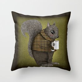 An Early Morning For Mister Squirrel Throw Pillow
