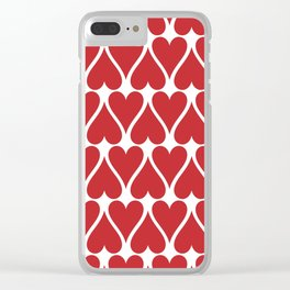 Hearts Background Clear iPhone Case