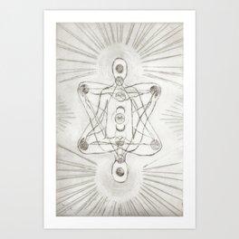Samadhi white Art Print