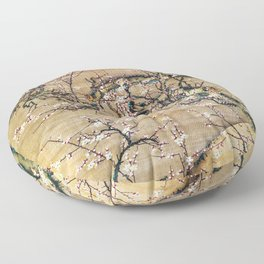 Moonlit Night And White Plum - Digital Remastered Edition Floor Pillow