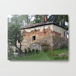 Stucco and Stone Metal Print
