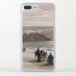 Isle of Graia Gulf of Akabah Arabia Petraea by David Roberts, 1839 Clear iPhone Case