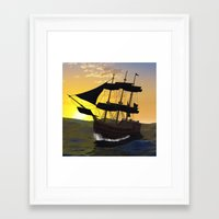 pirate ship Framed Art Prints featuring Pirate ship  by nicky2342