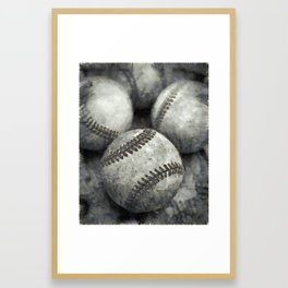 Baseball Pencil Framed Art Print