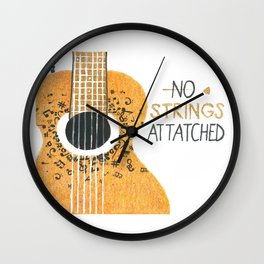 GuitarStrings Wall Clock