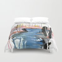 river Duvet Covers featuring River by Halfmoon Industries