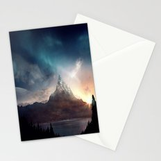 fantasy mountain Stationery Cards
