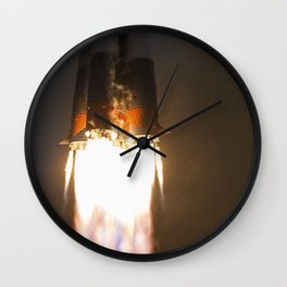 The Soyuz MS-02 rocket is launched with Expedition 49 Soyuz commander Sergey Ryzhikov of Roscosmos O Wall Clock