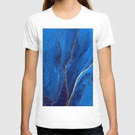 Blue watercolor liquid  T-shirt