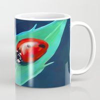 ladybug Mugs featuring Ladybug by Freeminds