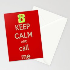 Keep Calm Call Stationery Cards