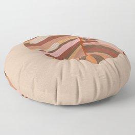 Monstera Leaf - Earthy,Terracotta & Pink Floor Pillow