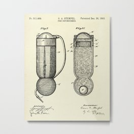 Fire Extinguisher-1893 Metal Print