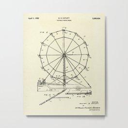 Portable Ferris Wheel-1952 Metal Print