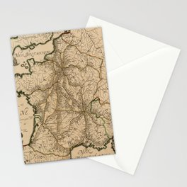 Map Of France 1632 Stationery Cards