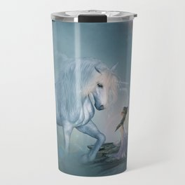 Wonderful unicorn with fairy Travel Mug