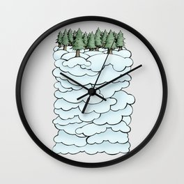 Treeclouds Wall Clock
