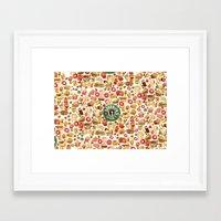 starbucks Framed Art Prints featuring The Starbucks by Nacho Z. Huizar