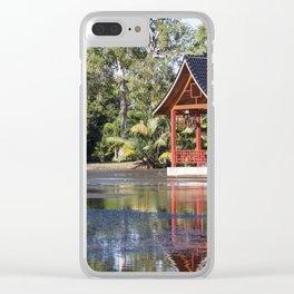 Peaceful Pagoda Clear iPhone Case