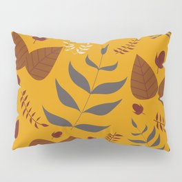 Autumn leaves and acorns - ochre and brown Pillow Sham