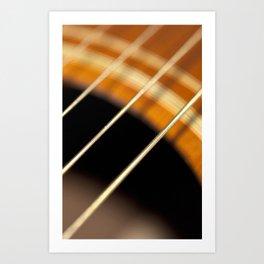 Acoustic Guitar Strings in Motion Art Print