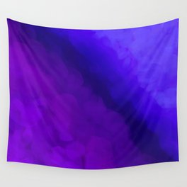 Deep Dark Abyss - Ultra Violet Ombre Abstract Wall Tapestry