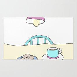 Hot beverage and cookies Rug