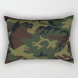 army green camo Rectangular Pillow