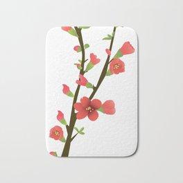 Flowering Quince Flowers Bath Mat