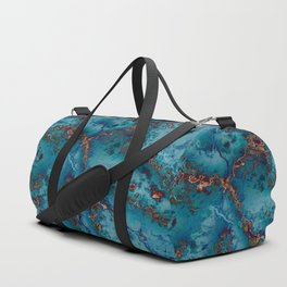 Blue fantasy marble Duffle Bag