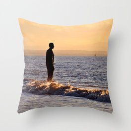 Iron Men of the Sea Throw Pillow