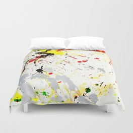 Paint Splatter Duvet Cover