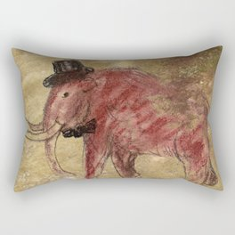 Cave art vintage mamut. Rectangular Pillow