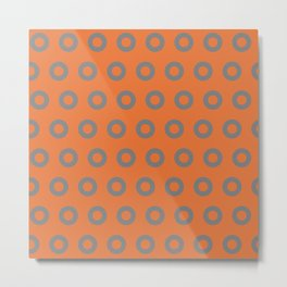 Gray & Orange Os Metal Print