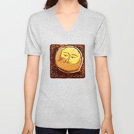 Conjunction moon and planet Unisex V-Neck