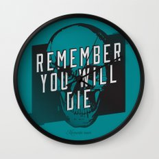 Memento mori - Remember you will die Wall Clock