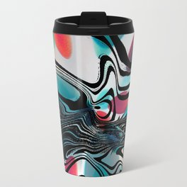 Wild Primary Color Wave Abstract Travel Mug
