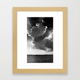 Clouds over Lake Constance Framed Art Print
