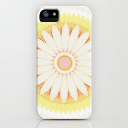 Sunshine Yellow Flower Mandala Abstract iPhone Case