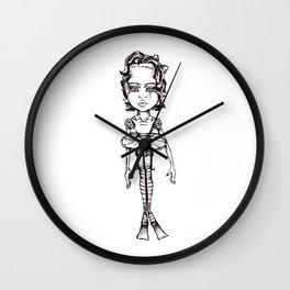 Big Headed Tutu dancer Wall Clock
