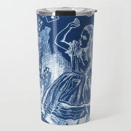 Card Alice in Wonderland Cyanotype Travel Mug