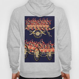 carriage flowers Hoody