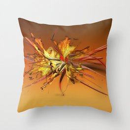 Fire on fire gradient by Mia Niemi Throw Pillow