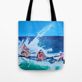 Surf Boat Rowers Tote Bag