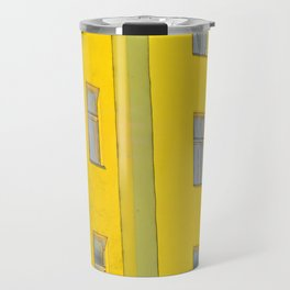 yellow house in Berlin Travel Mug